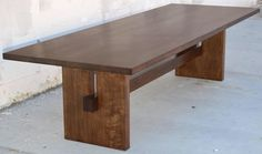 Black Walnut Trestle Table | From a unique collection of antique and modern dining room tables at https://www.1stdibs.com/furniture/tables/dining-room-tables/