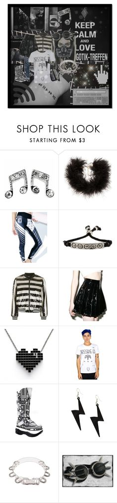 """Cybergoth festival outfit for goth festival outfit contest."" by darkpulse ❤ liked on Polyvore featuring Frasier Sterling, Damascus, Topman, Topshop, Lip Service, Demonia and GAS Jeans"