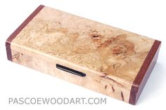 Decorative small wood box - Handmade  maple burl box
