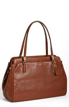 COACH 'Madison - Kimberly' Leather Satchel available at #Nordstrom