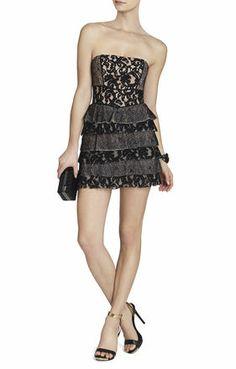 Ellie Mixed-Lace Strapless Dress- street fabulus<3
