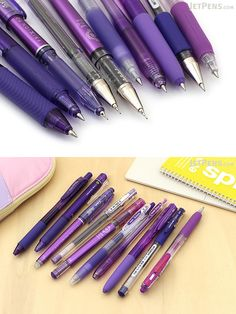 Want to experience the crisp, precise writing of a fine-tip Japanese gel pen but don't know where to start? With this sampler pack, you can use 10 of our most popular purple gel pens!