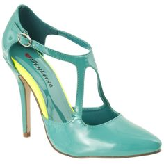 Riverberry Women's 'janie' Pointed-Toe Patent Stilettos ($29) ❤ liked on Polyvore featuring shoes, pumps, green, pumps & heels, sexy shoes, sexy stilettos, pointed-toe pumps, formal shoes and heels & pumps
