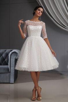 Amazon.com: Winey Bridal Short Sexy See-through Bateau Long Sleeves