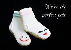 """""""Perfect Pair"""" Sock Cookies - cute for Valentine's Day"""