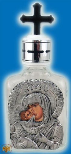 Holy Oil & Water Bottle Clear Glass D