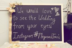 Instagram your wedding and get fun, personal pics from your guests. Modern Rustic Wedding Ideas | Heart Love Weddings