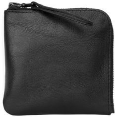 XENAB LONE - Black Leather Coin Purse (€30) ❤ liked on Polyvore featuring bags, wallets, fillers, black, black fillers, clutches, zip wallet, leather coin pouch, leather zip wallet and zipper wallet