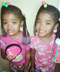 Cute Hairstyles For Kids, Natural Hairstyles For Kids, Black Girls Hairstyles, Natural Hair Styles, Hairstyle Ideas, Cute Mixed Girls, Cute Mixed Babies, Cute Little Girls, Kid Braid Styles