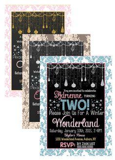 Girls Winter Wonderland Birthday Party by CustomPrintablesNY