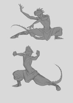 MonoFlax Art — Monk poses and dragon tails~ Fantasy Character Design, Character Design Inspiration, Character Concept, Concept Art, Character Poses, Character Drawing, Dnd Characters, Fantasy Characters, Dragon Poses