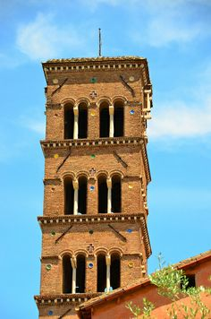 Medieval Bell Tower of S. Pudenziana, Rome