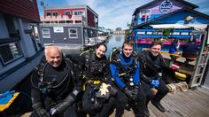 The divers will be wearing intercoms designed by Ocean Technology Systems that allow them to communicate to the surface and vice versa. (Jeff Reynolds Photography)