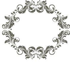 Frames para monogramas grátis para baixar - Cantinho do blog