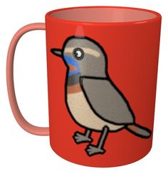 Bluethroat Mug / #Tableware #Animal #Bird #オガワコマドリ