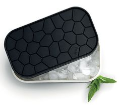 This silicone ice tray and container promise to eliminate the limitations and inconvenience of old plastic ice trays. The top acts as both a lid and an ice tray, giving you classic rock shapes.