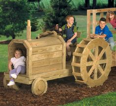 build a tractor play structure. plans for $ 14.95