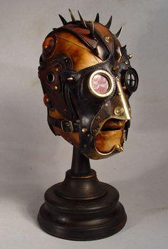 Steampunk Mohawk Art Leather Mask by Bob Basset