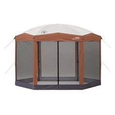 nstant 12ft x 10Ft Hexagon Screened Canopy Gazebo with Removable Insect Screen  This Instant 12ft x 10Ft Hexagon Screened Canopy Gazebo with Removable Insect Screen provides an easy, convenient screened shelter in the backyard, at a campsite, sporting event, or wherever you need reliable cover from the sun.