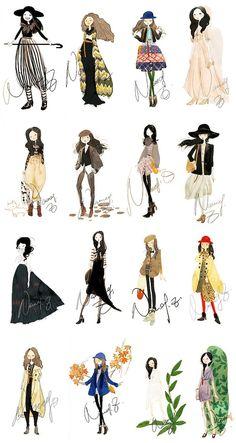 illustration of fashion self-portraits from beijing-native illustrator NANCY ZHANG /// NeochaEDGE ///