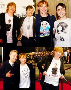 LET'S TAKE A MOMENT TO APPRECIATE THIS FLAWLESS PERSON #RUPERT GRINT IS THE OFFICIAL HARRY POTTER CAST CHEERLEADER AND HOW WONDERFUL IS THIS FLAWLESS GINGER
