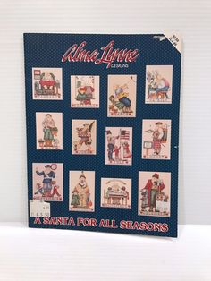 SANTA CLAUS CROSS STITCH PATTERN, A Santa for All Seasons, counted cross stitch #AlmaLynne