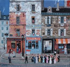 Michel Delacroix, Mariage populaire. 11″ x 12″. Acrylic on Canvas