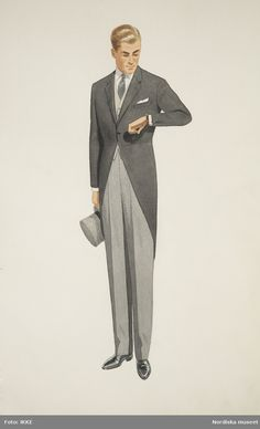 Fashion Illustration Vintage, People Illustration, Girl Illustrations, Retro Fashion, Vintage Fashion, Mens Fashion, Costume Design Sketch, Jackett, Retro Mode
