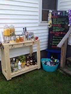 Ana White Rolling beverage cart