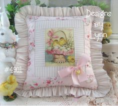 Image detail for -Ruffled Pillow Original Designs By Lynn 4901-pink, roses, shabby ...