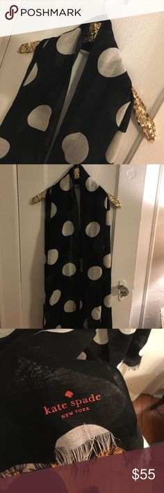 Kate Spade Scarf Lightweight yet warm. Long enough to be worn multiple ways. Sorry, I don't trade. Reasonable offers are always welcome!  Don't forget to check out The rest of my closet for bundle specials! Happy Poshing! 😍 kate spade Accessories Scarves & Wraps