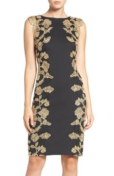 Tadashi Shoji Embroidered Neoprene Sheath Dress (Regular & Petite) available at #Nordstrom
