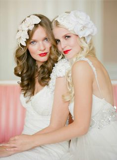 So lovely! I've always been a fan of leaving your hair down at weddings and hairpieces in lieu of veils.