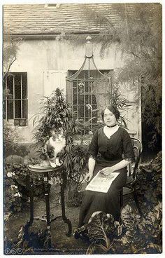 Look behind her to the left.  circa 1910  :)