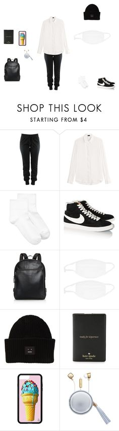 """""""Untitled #393"""" by chloediamonds ❤ liked on Polyvore featuring Joseph, Hue, NIKE, Longchamp, Acne Studios, Kate Spade and The Macbeth Collection"""