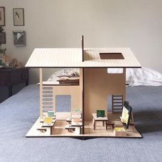 "179 mentions J'aime, 12 commentaires - Eva Guillet (@milky_wood) sur Instagram : ""The new house soon available on my etsy shop #milkywood #madeinfrance #woodentoys #house…"""