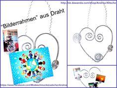 Bilderrahmen, Herz, Dekoration von Modeschmuckstübchen Andrea auf DaWanda.com