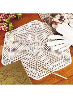 Crochet Doilies - Vintage Doily Crochet Patterns - Filet Hexagon Doily