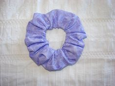 Light PURPLE Sparkle Fabric Hair Scrunchie by coloradocntry