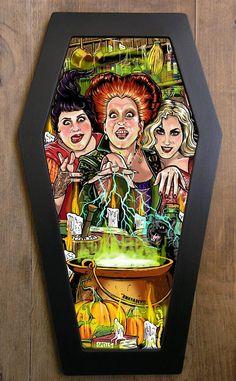Hocus Pocus coffin framed print.