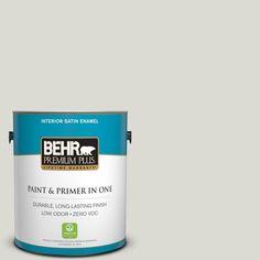 BEHR Premium Plus 1-gal. #GR-W11 Silver Ash Satin Enamel Interior Paint