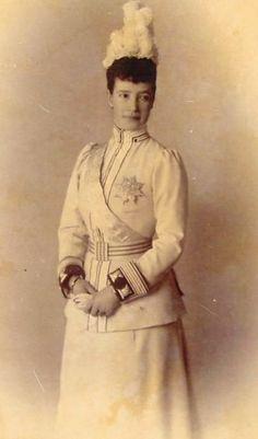 Maria Feodorovna in the uniform of her Chevalier Guards Regiment, 1898.