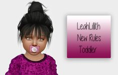 Lana CC Finds - LeahLillith New Rules - Toddler Version