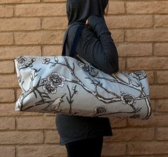 Handmade Yoga or Pilates Tote Gym Bag NATURE by ChellaBellaDesigns