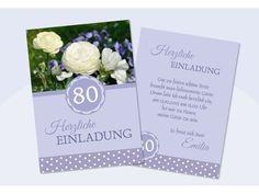 einladungskarten 80. geburtstag - selbst gestalten, Einladung