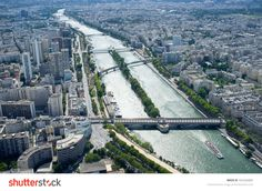 PARIS, FRANCE, AUGUST 17, 2013: view of the city from the top of Eiffel Tower