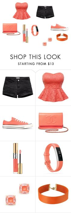"""i would rock this on my first day of high school"" by pretty-luv on Polyvore featuring H&M, Converse, Chanel, Yves Saint Laurent, Fitbit, Kate Spade and Vanessa Mooney"