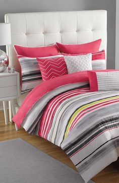 KAS Designs 'Evie' Comforter, Shams & Pillows Set available at Guest Bedroom Decor, Bedroom Bed, Dream Bedroom, Bed Sets, Pretty Bedroom, New Beds, Awesome Bedrooms, Pillow Set, Bed Spreads