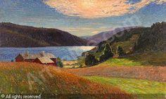 Anton Genberg (1862-1939): Eftermiddagsstämning - Björnängen, Åre
