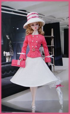 "Dress/outfit for silkstone, fashion royalty, vintage barbie, poppy parker. (with all smooth non-rubbery legs 11""-12"" barbie doll) --- doll and stockings, shoes, dress form and diorama accessories are not included."